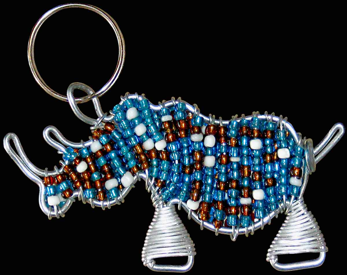 African Beaded Keyrings