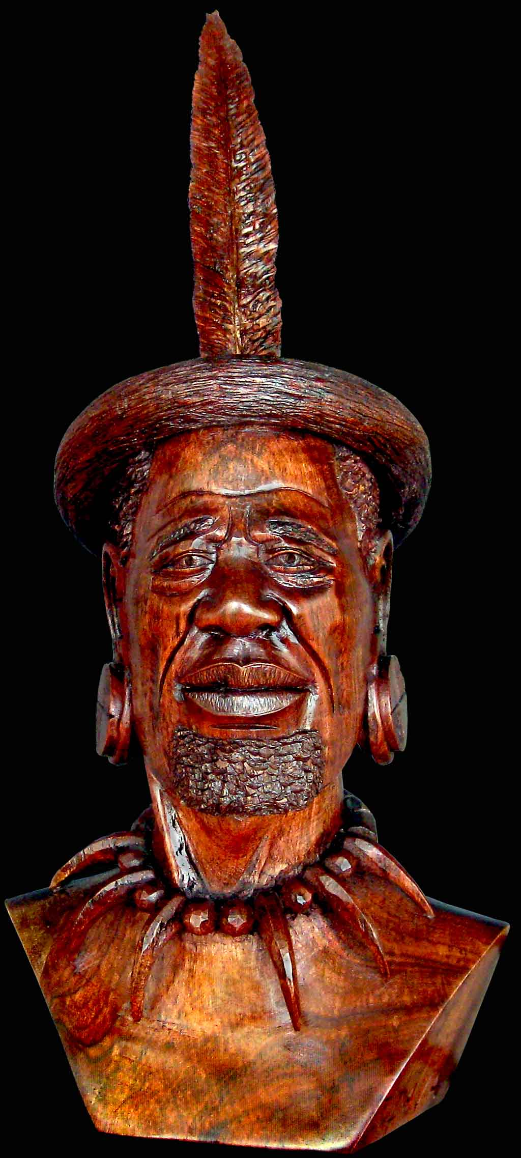 King Shaka Wood Carved