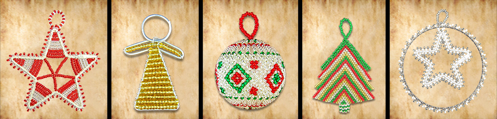 African Beaded Christmas Decorations