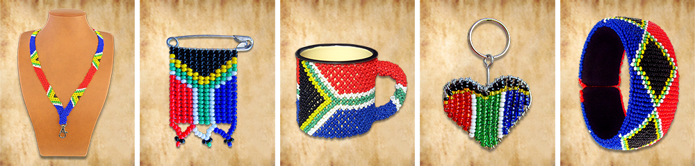 Beaded SA Flag Products