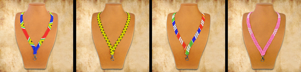 African Beaded Lanyards