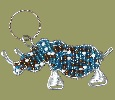 Beaded Rhino Keyring Chain
