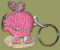 Beaded Key Chain Frog