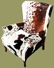 Nguni Hide Wingback Chair