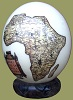 Ostrich Egg Decoupage Africa Map
