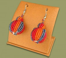 African Beaded Earrings Bobble Design