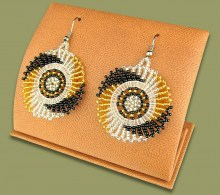 African Beaded Earrings Circle