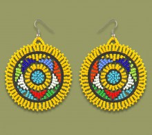African Beaded Earrings Large Circle