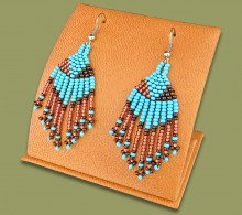 African Beaded Earrings Tassel