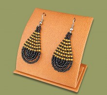 African Beaded Earrings Teardrop Small