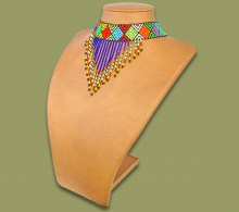 African Beaded Necklaces Traditional