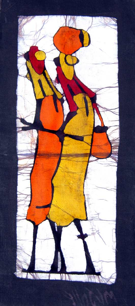 African Wax Batik Elderly Woman