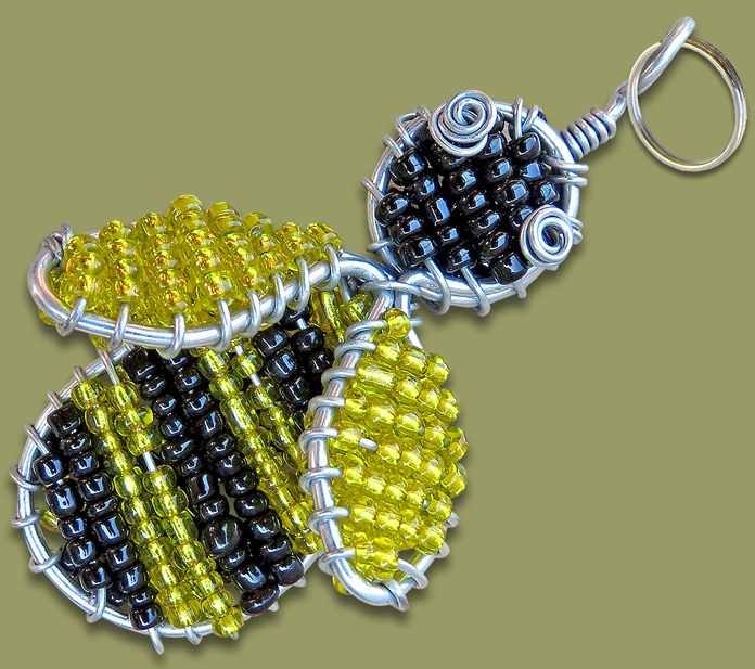 Beaded Keyring Bee