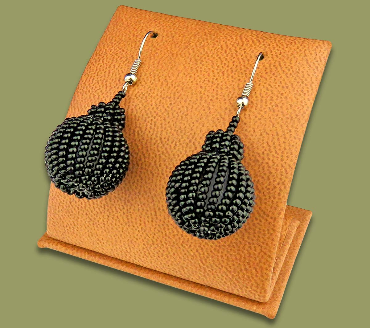 Bobble Earrings Black