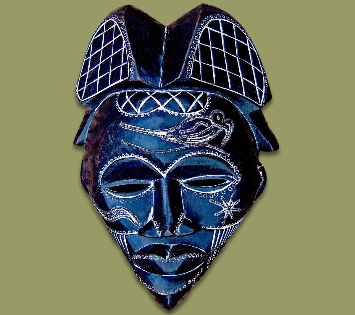 masks from africa  african mask tikar black
