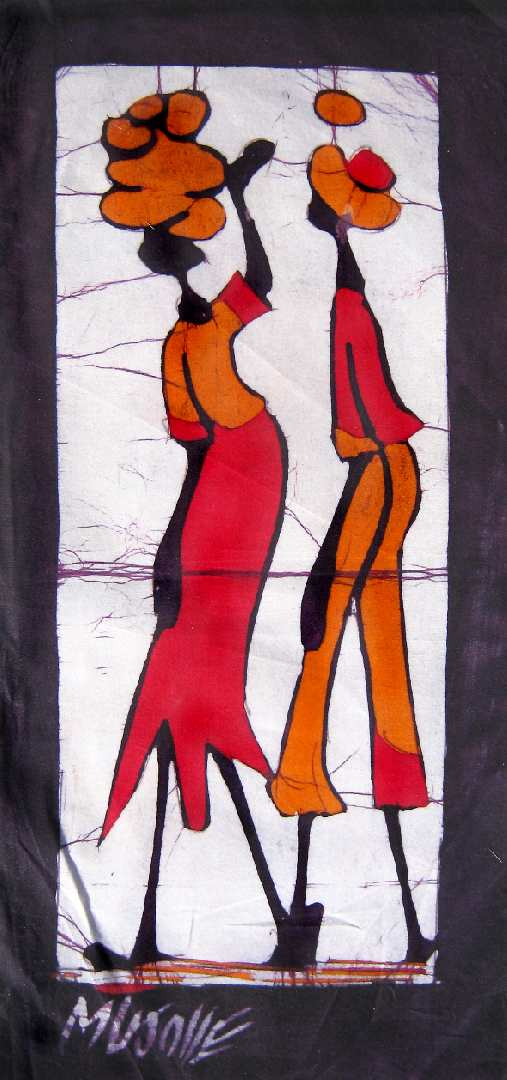 African Wax Batik Husband Wife