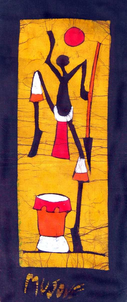 African Wax Batiks African Wax Batik Tribal Dance