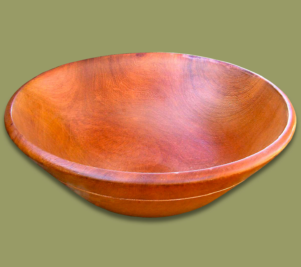 Wood Bowl Mahogany Wood & African Tableware Assorted: Wood Bowl Mahogany Wood