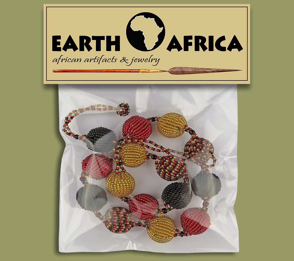 All Beaded Necklace Packaging Bobble