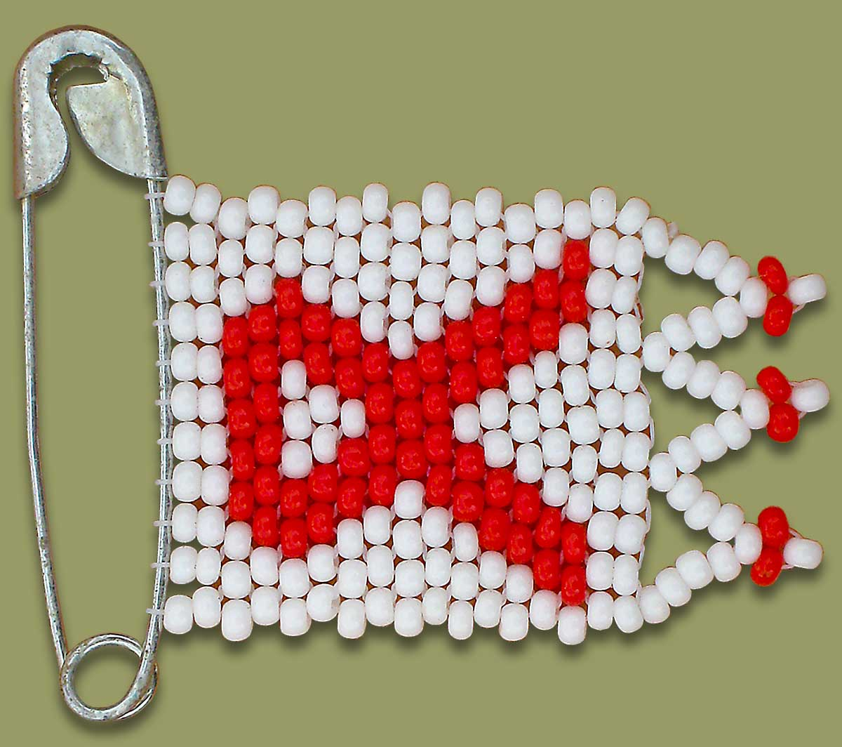 Beaded Aids Flag Pin