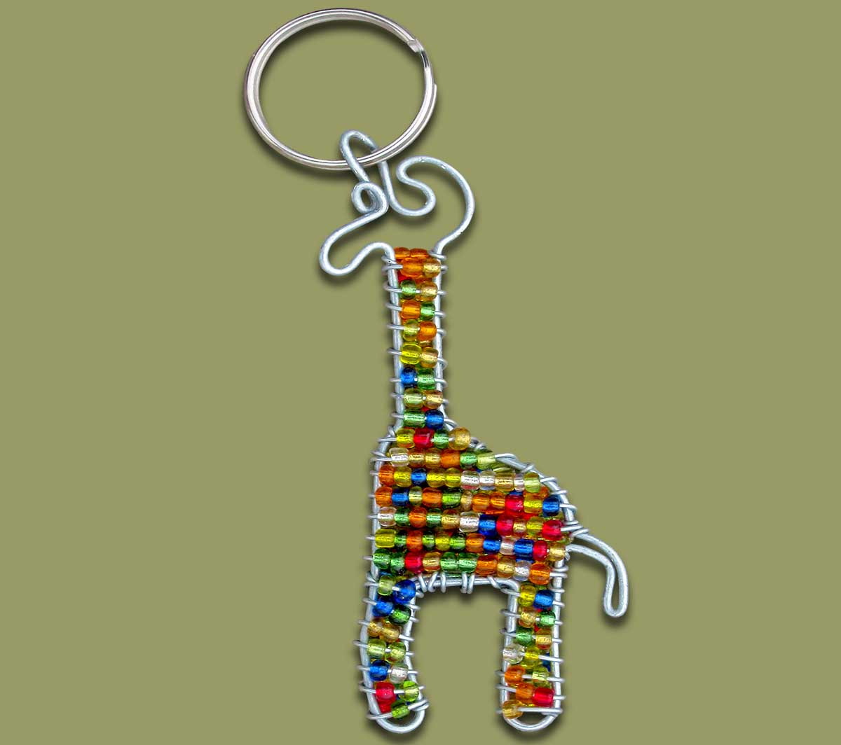 Beaded Key Ring Giraffe