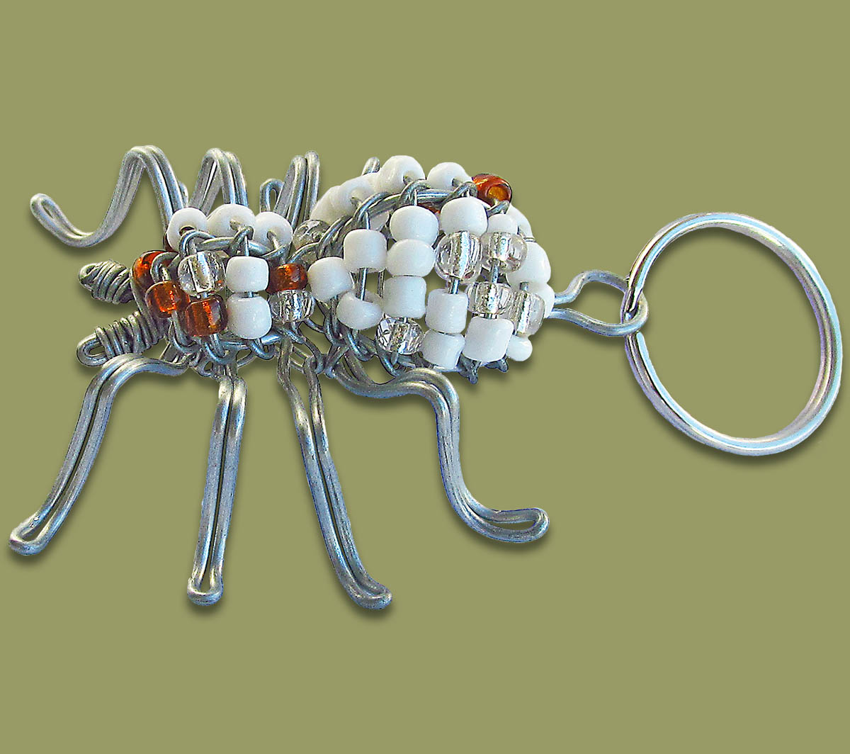 Beaded Key Ring Spider  3D