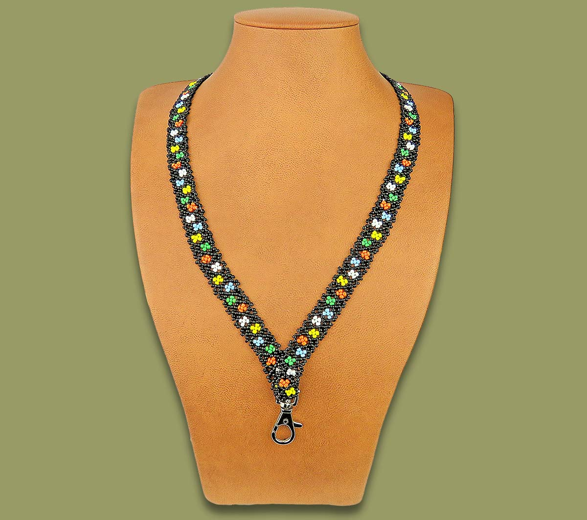African Beaded Lanyard Zulu Flower Design