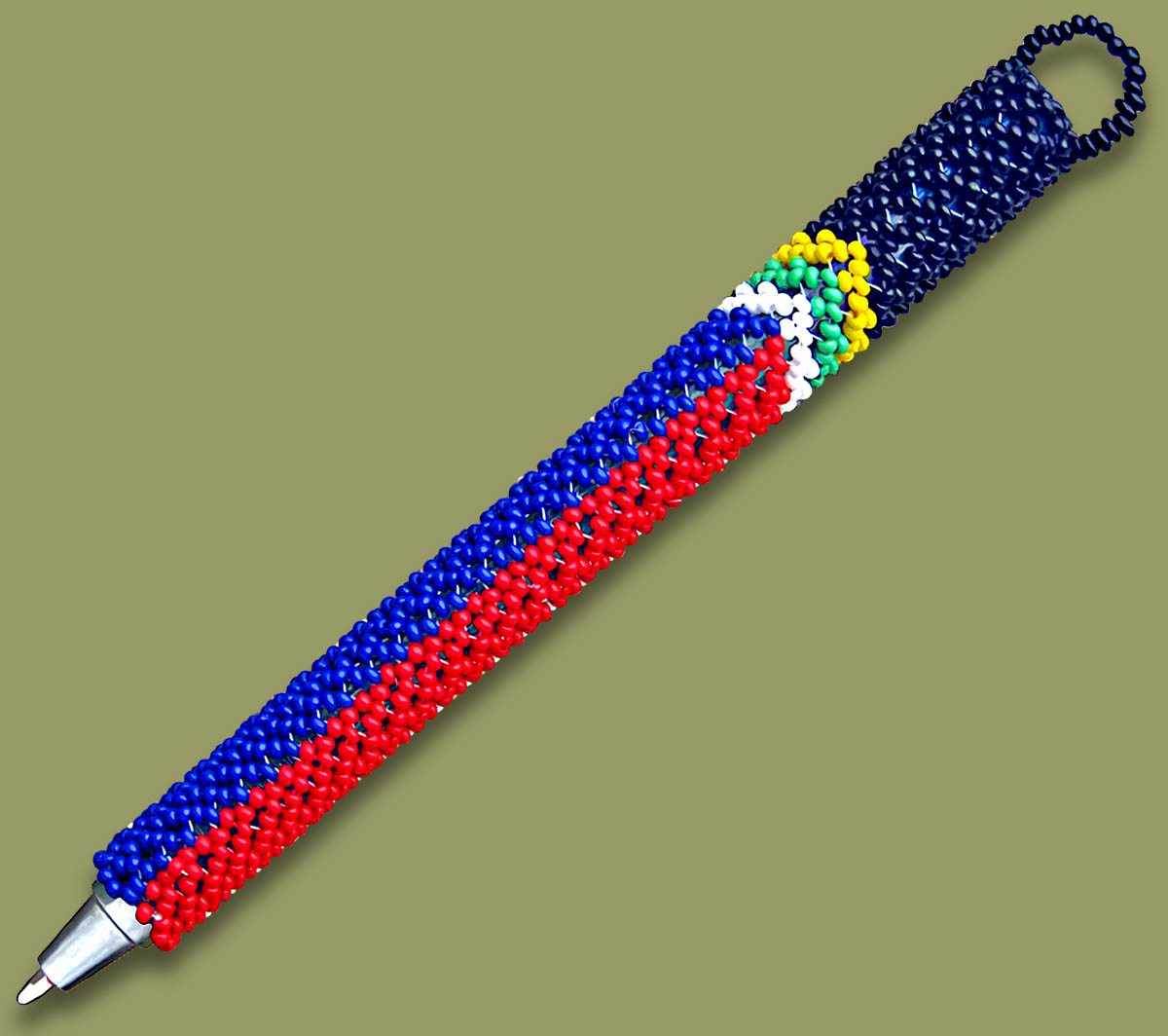 SA Flag Beaded Pen