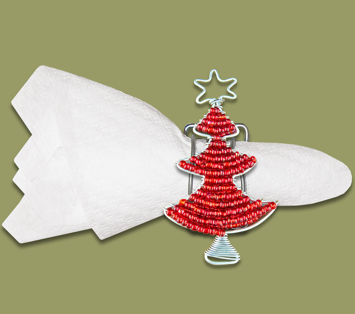 African Beaded Xmas Tree, 2 Serviette Stand Holder