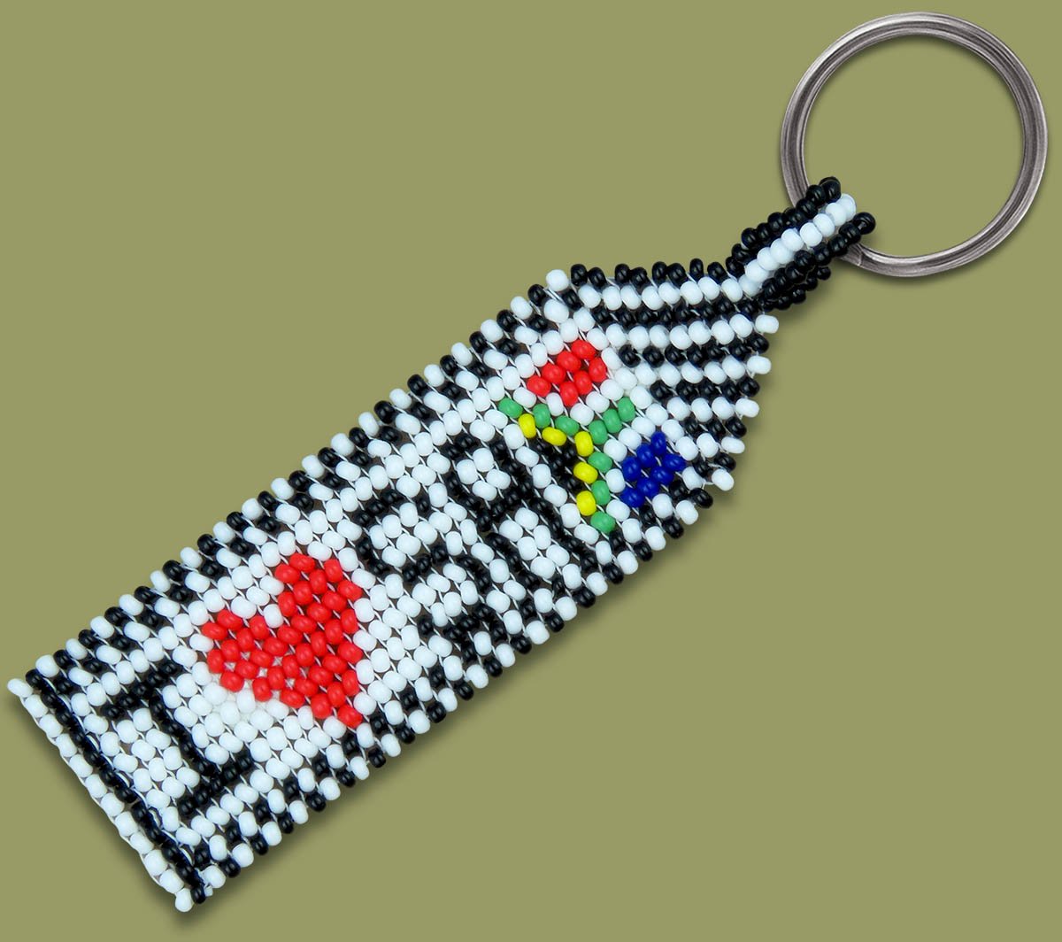 I Love SA Beaded Keyring