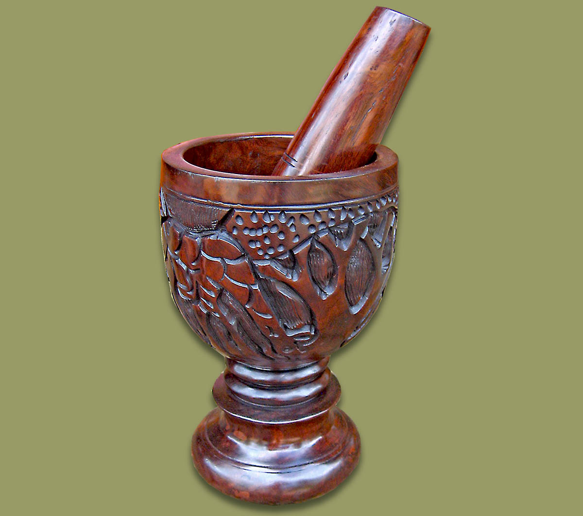 African Tableware Assorted Mortar And Pestle Ebony Wood
