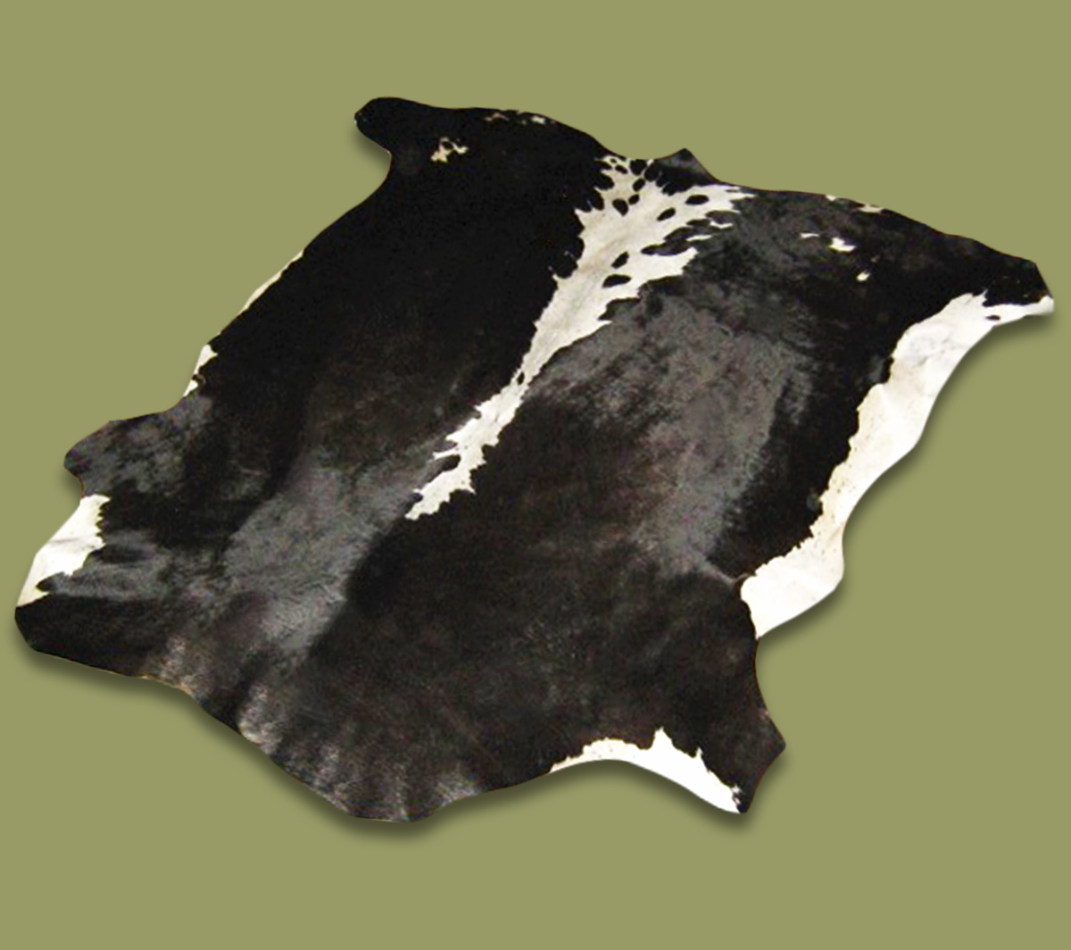 Nguni Hide.27 Black White - A GRADE HIDE