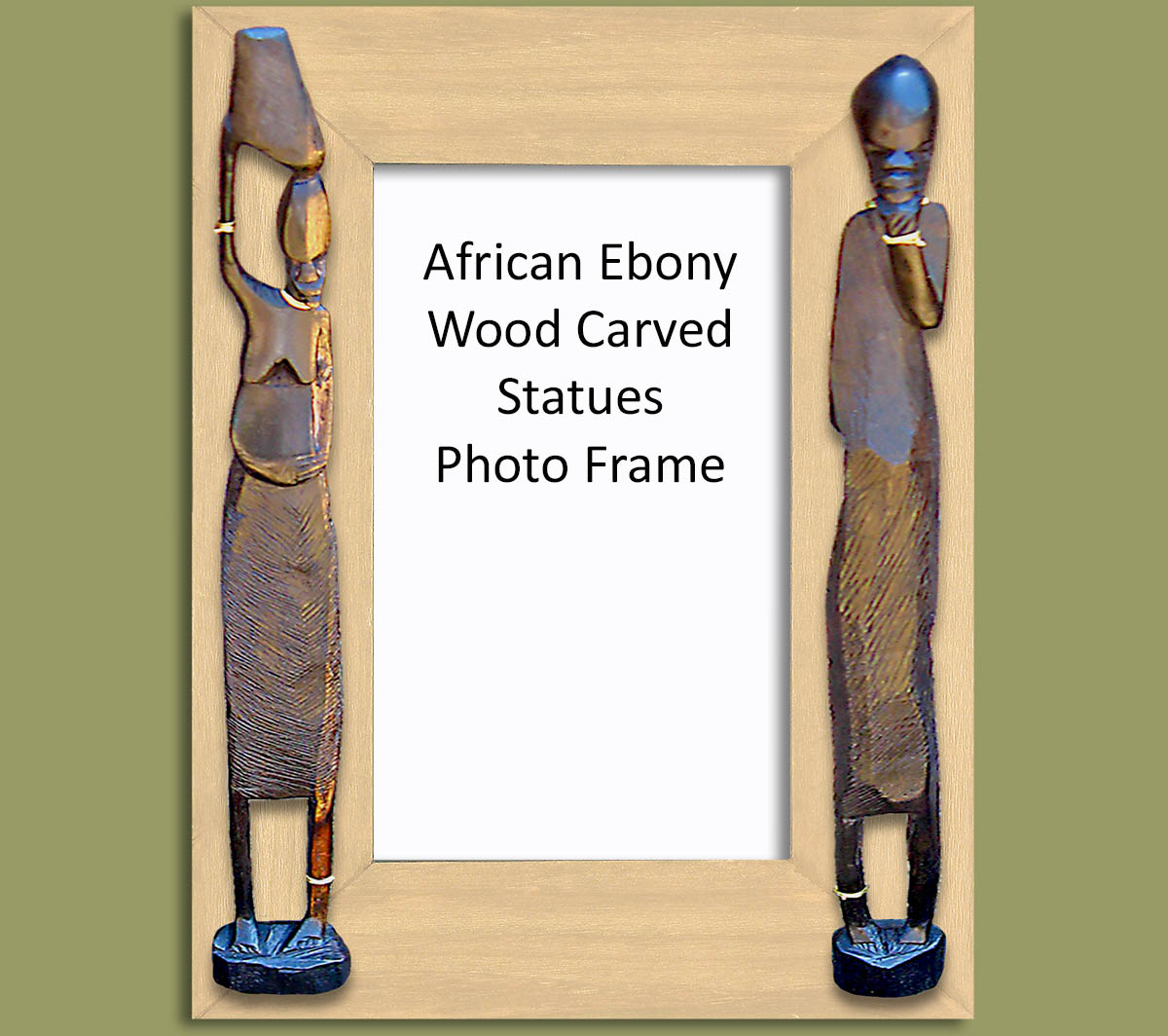 African Statues Photo Frame Double