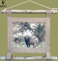 African Wall Hanging Buffalo