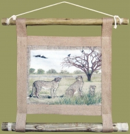 African Wall Hanging Cheetah