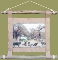 African Wall Hanging Wild Dog