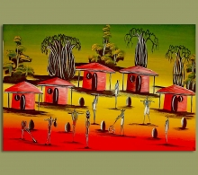African Art Village Sunrise.1