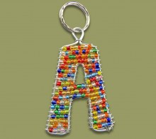Beaded Alphabet Letters Keyrings