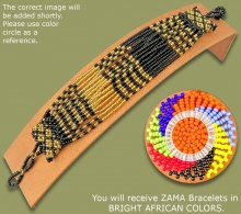 Beaded Bracelets Zama Bright African Colors