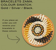 African Beaded Bracelets Zama Gold Silver Black