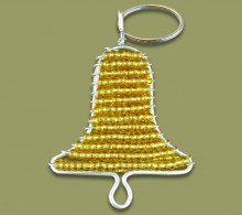 African Beaded Christmas Bell Keyring