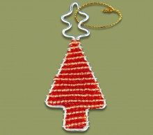 African Beaded Christmas Tree.1 Red