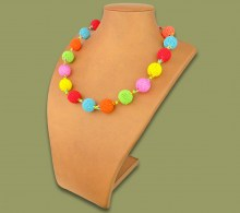African Beaded Necklace Bobble Candy Colors