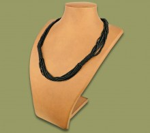 African Beaded Necklace Mvovo Black