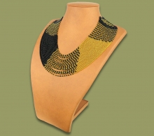 Beaded Necklace Sibaya Gold Black