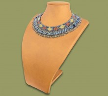 Beaded Thandi Necklace Metallic Copper White-Gold