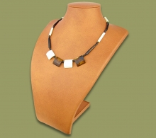 African Bone Necklace White Brown