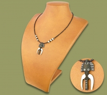 African Bone Necklace Elephant. 2