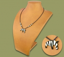 African Bone Necklace Zebra