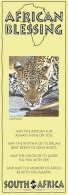 African Bookmark Leopard Drinking Water